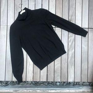 BCBGMaxAzria Black Long Sleeve Turtleneck Sweater